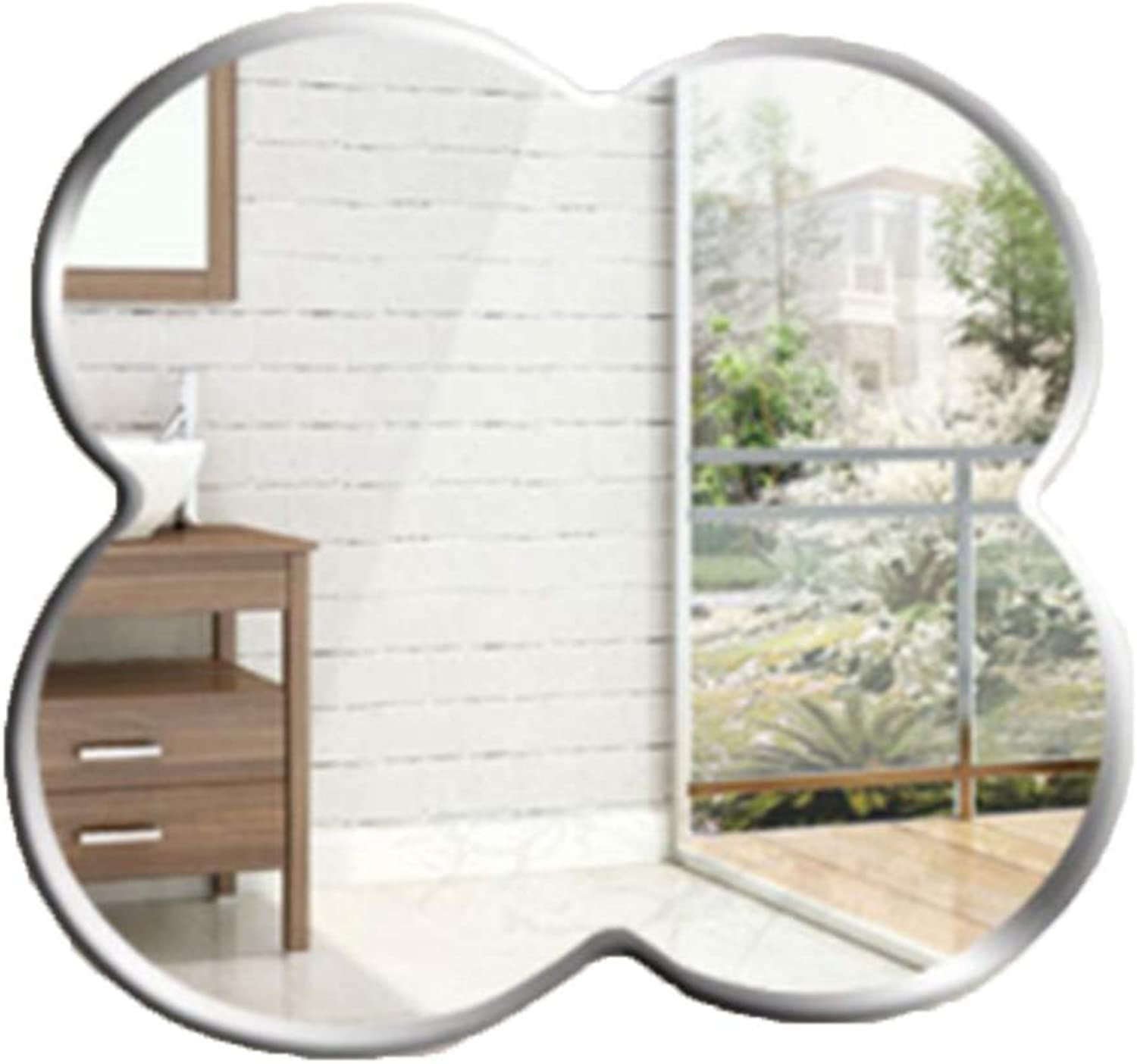 Mirrors Makeup Mirror Simple Shaped Wall Bathroom Mirror Frameless Bathroom Mirror Bathroom Mirror Wall Mirror (color   Silver, Size   59  59cm)