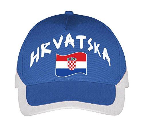 Supportershop Kroatien Cap Fußball, blau, fr: Einheitsgröße (Größe Hersteller: Größe One sizeque)