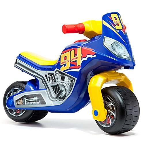 MOLTO   Moto Correpasillos Cross Race   Moto Corre Pasillos Todo Terreno   Juguetes Infantiles Seguros y Resistentes   Fomenta el Sano Desarrollo de Niños y Niñas   De 18 a 36...