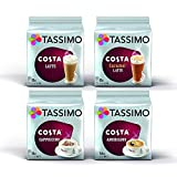 Tassimo 4 Packet Costa Coffee Mix Flavour T-Discs (16 T-Discs per Packet = 64 T-Discs in Total)