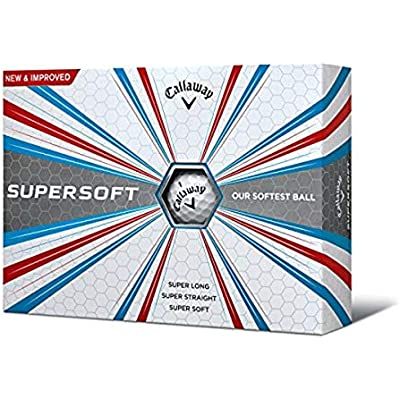Callaway Supersoft Bolas de Golf, Unisex Adulto, Blanco, Talla Única