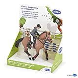 Papo 51561 Competition horse with rider, FOALS AND PONIES Figurine, multicolour