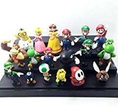 XINKANG Set de Juguetes 18pcs/Lot Super Mario Bros Acción Juguetes Figuras Donkey Kong Yoshi Peach Princesa Luigi Shy Guy Odyssey Modelo Muñecas De Dibujos Animados