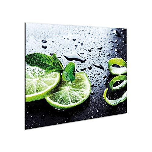 Tabla protectora de encimera, de cerámica, 60 x 52 cm, de gran tama?o, de cristal templado, para cortar, se puede colocar en la pared para evitar salpicaduras, protector de vitrocerámica