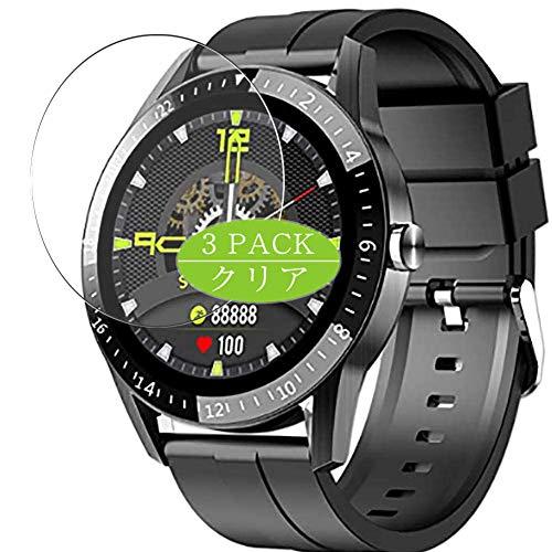 Vaxson 3 Stück Schutzfolie kompatibel mit JINPXI LEMFO S1 smartwatch Smart Watch, Displayschutzfolie Bildschirmschutz Blasenfreies [nicht Panzerglas]
