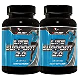 Ai Sports Nutrition Life Support 2.0 Twin Pack, 2 -120 Count Bottles Comprehensive Organ Support