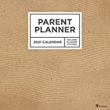 TF PUBLISHING 2021 Parent Planner Monthly Wall Calendar - Appointment Tracker - Contacts and Notes - Home or Office Planning - Matte 12'x12'