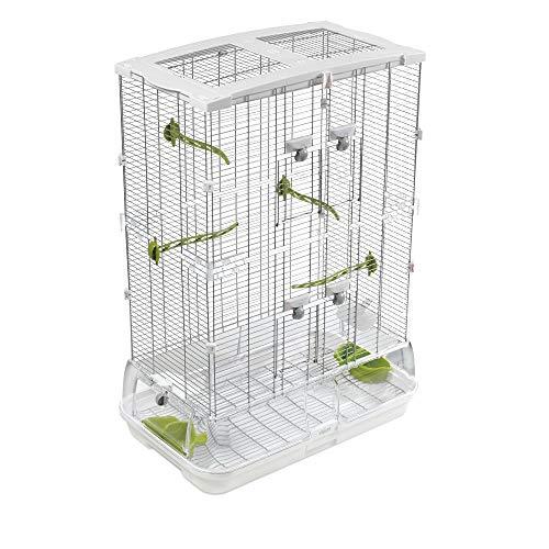"Hagen Vision Bird Cage Model M02, 24.6"" L X 15.6"" W X 34.3"" H, 16.6 LBS, White"