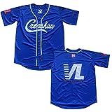 Men's Crenshaw Jersey Victory Lap Cover Hip Hop Rap Black Blue Baseball Jersey (Blue, S)