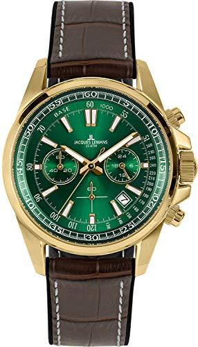 Jacques Lemans Chronograph für Herren Liverpool Braun/Grün 1-2117H