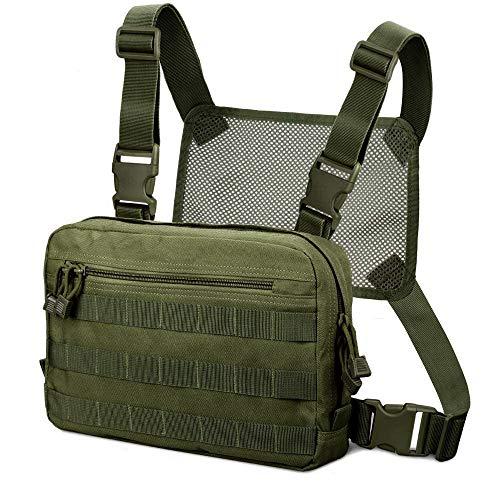 Kyrio Tactical Chest Rig Chest Bag Molle Radio Brustgurthalter Tactical Brusttasche Holster Weste für Zwei-Wege-Radio Walkie Talkies