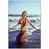 dubdubd Princess Leia Slave Outfit Movie Actress Art Posters and Prints Canvas Painting Home Wall Decor -20X30 Inch No Frame 1 Pcs