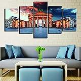 ERSHA Arte de Pared Lienzo Pintura Carteles de Puerta 5 Piezas Moderno Alemania Berlín decoración del hogar para habitación Cuadros modulares Ilustraciones