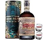 rum don papa cosmic mt.kanland limited edition 70 cl in astuccio con due bicchieri logo bianco