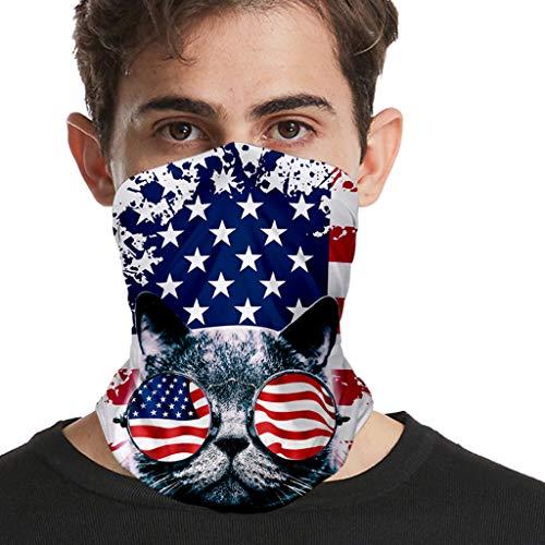 Best Price Men Women Face Bandana July 4th Patriotic Balaclava Neck Gaiter Wrap Cool Printed Headwea...