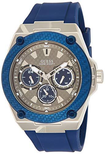 Guess herenhorloge chronograaf kwarts horloge met siliconen armband W1049G1