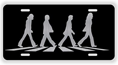 Vincit Veritas Abbey Road Crosswalk Vinyl Album Record Iconic Abbey Road Crosswalk Merchandise Memorabilia Laser Etched License Plate Aluminum LP007