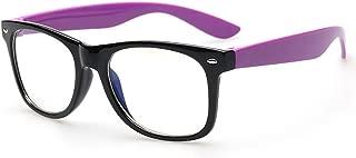 Blue Light Blocking Computer Glasses for Anti Eye Strain UV Transparent Lens Computer Reading Glasses Anti Blue Rays Wafarer Glasses Tortoiseshell