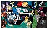JH Lacrocon Pesca Noche En Antibes 1939 de Pablo Picasso - 120X70 cm Pinturas Abstracto a Mano Reproducción sobre Lienzo Enrollado Decoración Pared para Salón