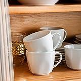 MALACASA Serie Julia, Tafelservice 30-teilig Kombiservice Porzellan Geschirrset mit je 6 Kaffeetassen, 6 Untertassen, 6 Kuchenteller, 6 Suppenteller und 6 Flachteller Kaffeeservice für 6 Personen - 9