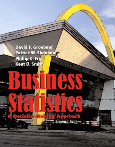 Business Statistics: A Decision Making Approach (7th Edition)