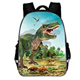 Kinderrucksack Jungen Mode 3D Cartoon Dinosaur Kindergartentasche Schulrucksack Schultasche Rucksack...