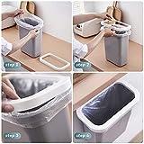 TTMOW Mülleimer Küche Klein, Neue Generation 10L Abfalleimer Küche Für Schranktür (Grau) - 2