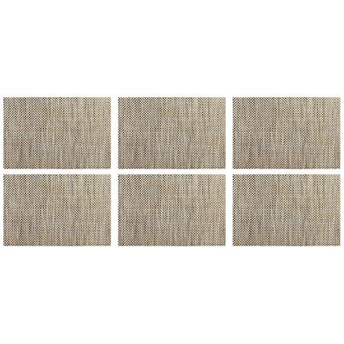 ASA Selection 78044076 table top Weboptik Tischset, 46 x 33 cm, PVC, grau/natur (6 Stück)