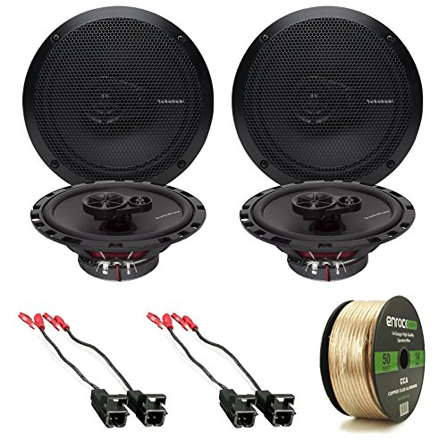 Check Out This 4x Rockford Fosgate R165X3 Prime 6.5″ Inch 180 Watt 3-Way Full-Range Black Car Coaxial Audio Speaker Bundle Combo With 4x Speaker Harness for Select 1984-2013 GM Vehicles + 50 Ft 16-Gauge Speaker Wire