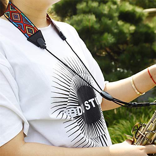 XuBa Red Diamond Pattern Schultergurt Nackenbügel für Saxophon Zubehör (Opp)