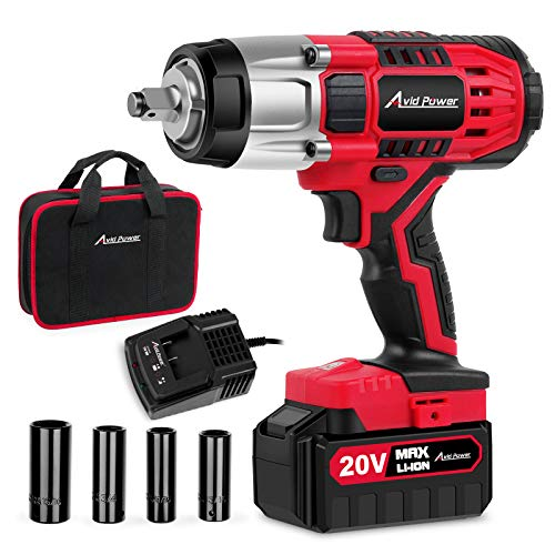 Avid Power 20V MAX Cordless Impact Wrench with...