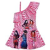 2020 New Summer Descendants Cosplay nuoto Bambini ragazze abiti da principessa Discendenti parrucca moda bambini Costume da bagno abiti taglia 150 (11-12 T) modello 1