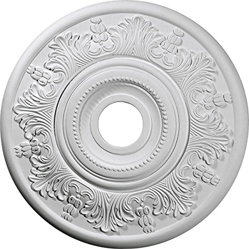 "Ekena Millwork CM20VI Vienna Ceiling Medallion, 20""OD x 3 1/2""ID x 1 1/2""P (Fits Canopies up to 6 1/2""), Factory Primed"