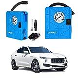 Oshotto/Windek 12V Portable Tire Inflator/Compressor with LED Light Compatible with Maserati Levante (Blue)