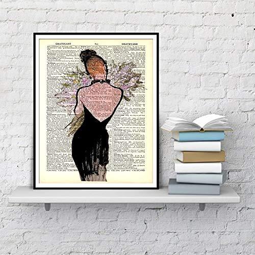 Geiqianjiumai woordenboek bedrukt mode Art poster kunstdruk canvas woonkamer decoratie huis schilderen zonder lijst