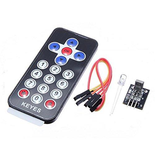 Kit de Control Remoto inalámbrico de módulo Receptor infrarrojo infrarrojo Youmile para Arduino