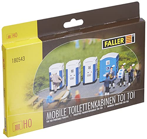 FALLER 180543 - Mobile Toilettenkabinen TOI TOI