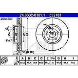 ATE 24.0332-0101.1 Rotores de Discos de Frenos, Set de 2