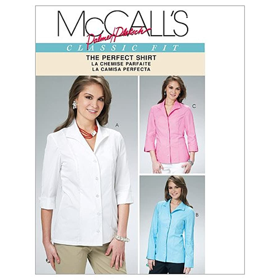 McCall's Patterns M6076 Misses' Shirts, Size BB (8-10-12-14)