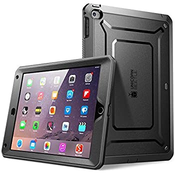 SUPCASE [Unicorn Beetle PRO Series] [Heavy Duty] Case for iPad Air 2 ,[2nd Generation] 2014 Release Full-body Rugged Hybrid Protective Case with Built-in Screen Protector (Black)