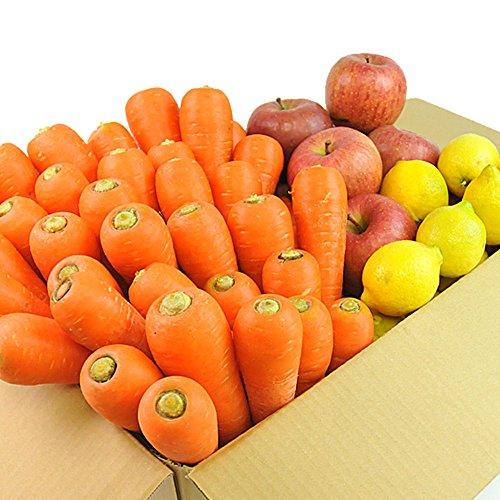 にんじん 野菜セット( にんじん3kg+りんご1kg+レモン500g)にんじん :農薬・化学肥料不使用栽培 訳あり