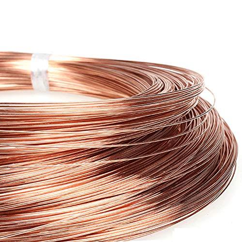 SOOKi Kupferleitung Länge 10m/32.8ft T2 Kupfer Red Kupferleitung Bare Draht 99,90% Isolierter Draht,Diameter,3mm