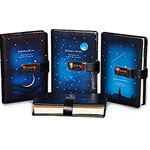 Zhi Jin 1Pc A5 Dream Night Series Password Notebook Journals Locking Secret Diary Notebooks with Coded Hardback Note Books Gift Meniscus