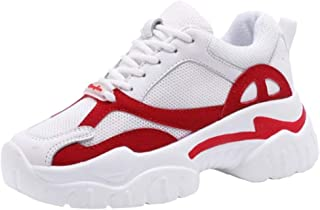 VulusValas Women Lace Up Sneakers