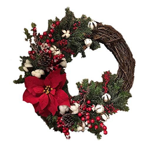 Guirnalda de Navidad 30cm Guirnalda de La Puerta Campanas de Pino Artificial de La Navidad Guirnalda de La Puerta de La Decoración para Navidad, Adviento, Corona de Puerta