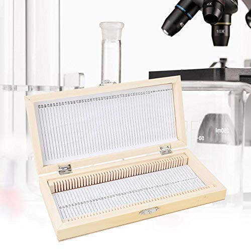 【𝐒𝐩𝐫𝐢𝐧𝐠 𝐒𝐚𝐥𝐞 𝐆𝐢𝐟𝐭】50PCS Biology Glass Prepared Microscope Slides Specimens Wooden Slide Storage Boxs Case-Quality is Our Culture