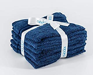 Set of 6 Pieces (30x30 cm) Home Bathroom Wash, Hand, Face 100% Cotton Towel Set | Luxury and Think Towels | Up to 600 GSM ...