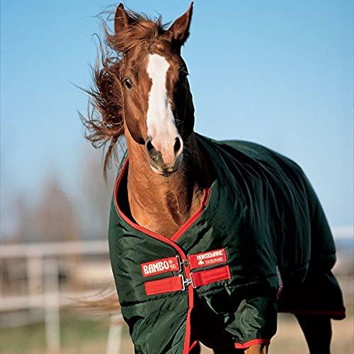 Horseware Rambo Turnout The Original (370 g)-Heavy/Vert/Rouge 140 cm - Vert/Rouge