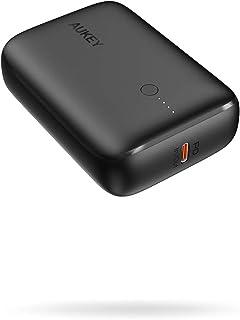 モバイルバッテリー AUKEY 最大20W PD出力対応 大容量 10000mAh 軽量 小型 20W PD 3.0 & QC 3.0 USB-C出入力ポート+USBポート パススルー充電に対応 iPhone 12/iPhone/iPad/An...