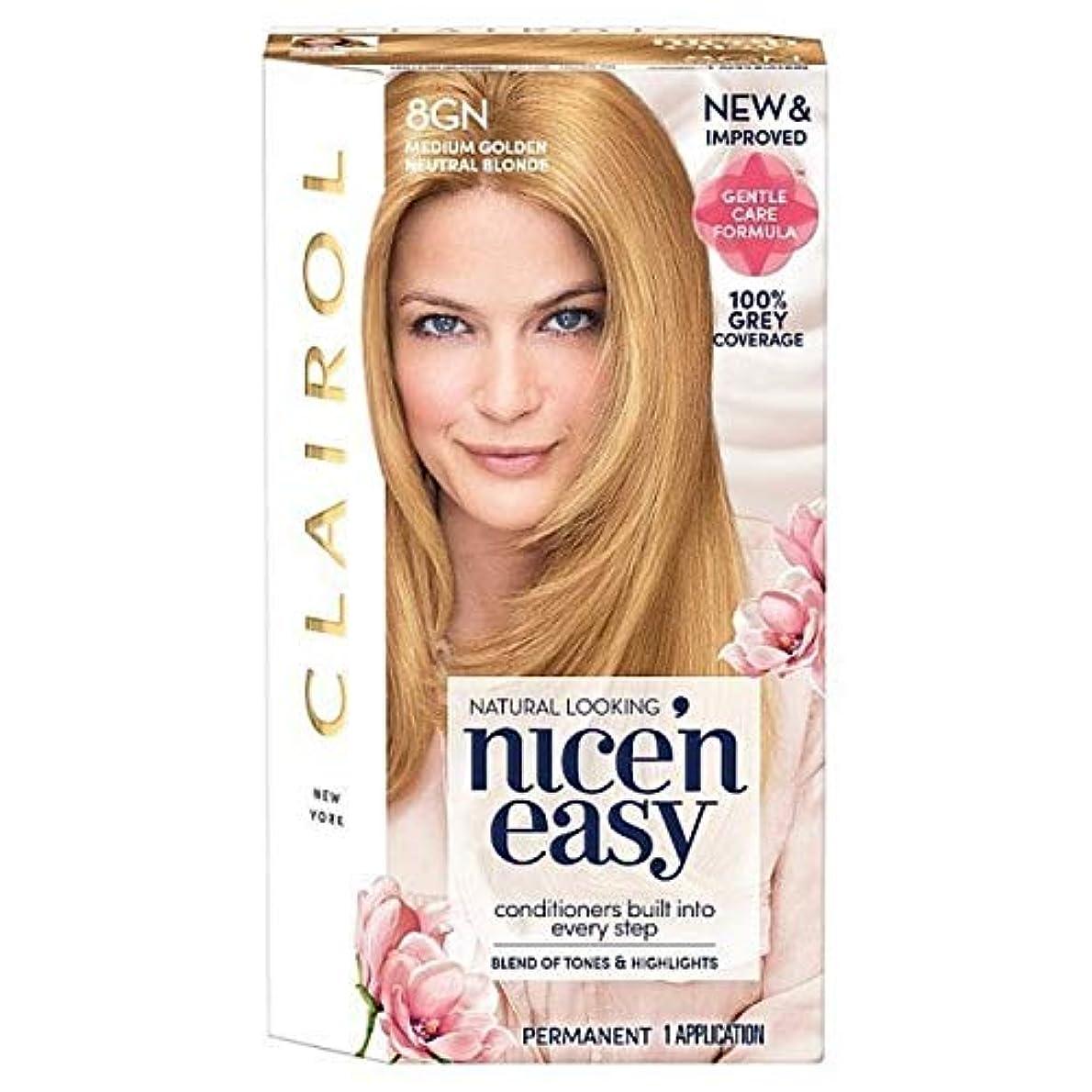 暴行構成色[Nice'n Easy] Nice'N簡単8Gnメディア黄金の自然なブロンド - Nice'n Easy 8Gn Medium Golden Natural Blonde [並行輸入品]